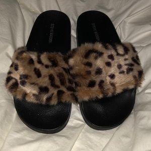 Steven madden cheetah slides